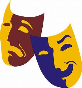 drawing of happy and sad drama masks