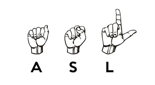 sign language symbols for A S L